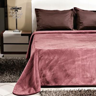 Κουβέρτα μονόχρωμη υπέρδιπλη Art 1060 σε 4 αποχρώσεις - 220x240 Chocolat Beauty Home