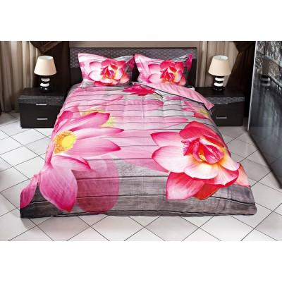 Παπλωματοθήκη υπέρδιπλη 3D Beauty  220x240 Ροζ,Γκρι Beauty Home