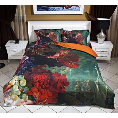 Παπλωματοθήκη υπέρδιπλη 3D Version - 220x240 Κόκκινο, Πορτοκαλί, Πράσινο Beauty Home