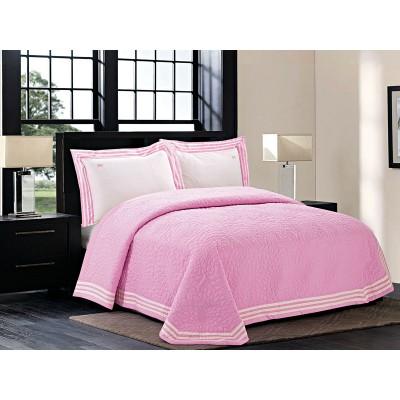 Κουβερλί υπέρδιπλο Olympian - 220x240 Ροζ Beauty Home