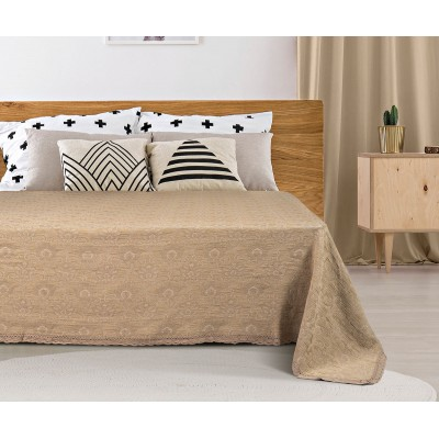 Κουβέρτα ζακάρ Art 1349 με δαντέλα υπέρδιπλη σε 5 χρώματα - 230x250 Candy Beauty Home