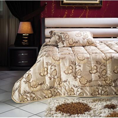 Κουβερλί υπέρδιπλο Art 1447 - 220x240 Εμπριμέ, Χρυσαφί Beauty Home