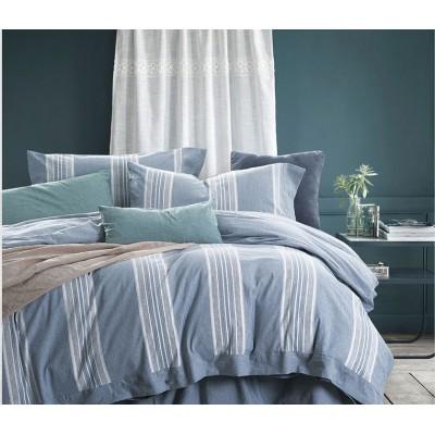 Κουβερλί υπέρδιπλο Grooves Art 1611 - 220x240 Γαλάζιο Beauty Home
