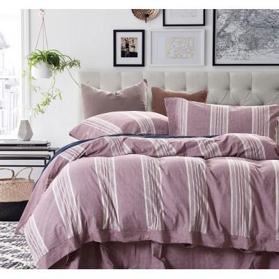 Παπλωματοθήκη υπέρδιπλη/S Grooves  Art 1612 - 220x240 Ροζ Beauty Home