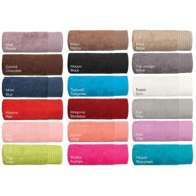 Πετσέτα προσώπου Art 3030 σε 18 αποχρώσεις - 50x100 Ροζ Beauty Home