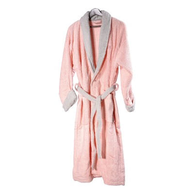 Μπουρνούζι με γιακά Art 3045 - S-M Ροζ Beauty Home