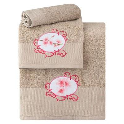 Σετ πετσέτες Art 3164 - Σετ 3τμχ Μπεζ Beauty Home