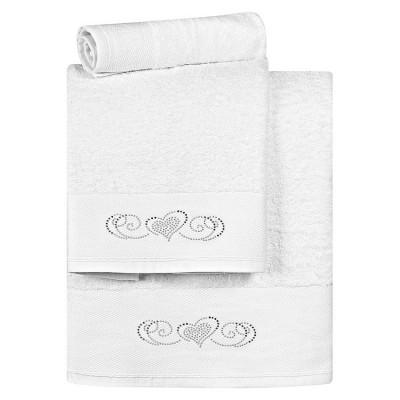 Σετ πετσέτες Art 3169 - Σετ 3τμχ Λευκό Beauty Home