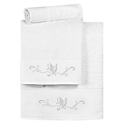 Σετ πετσέτες Art 3171 - Σετ 3τμχ Λευκό Beauty Home