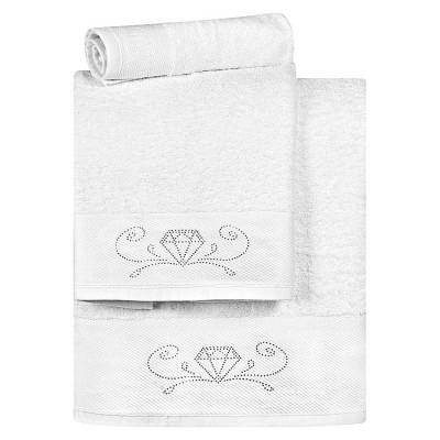 Σετ πετσέτες Art 3172  Σετ 3τμχ  Λευκό Beauty Home
