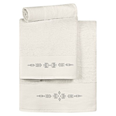 Σετ πετσέτες Art 3173  Σετ 3τμχ  Εκρού Beauty Home
