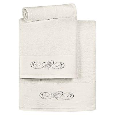 Σετ πετσέτες Art 3174 - Σετ 3τμχ Εκρού Beauty Home