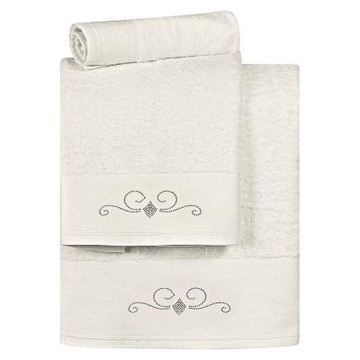 Σετ πετσέτες Art 3175 - Σετ 3τμχ Εκρού Beauty Home