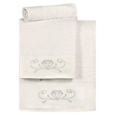 Σετ πετσέτες Art 3177  Σετ 3τμχ  Εκρού Beauty Home