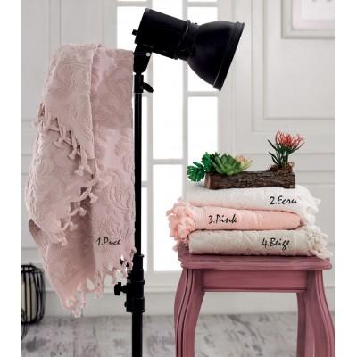 Πετσέτα προσώπου ζακάρ Art 3180 σε 4 αποχρώσεις  50x90 - Μπεζ Beauty Home