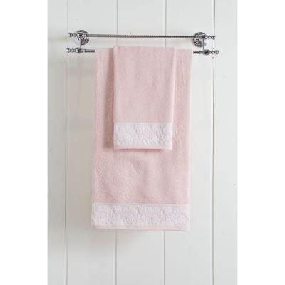 Πετσέτα προσώπου Art 3221  50x90  Ροζ Beauty Home