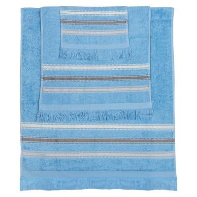 Σετ πετσέτες Art 3259  Σετ 3τμχ  Γαλάζιο Beauty Home