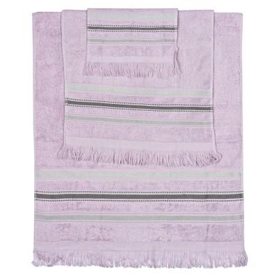 Σετ πετσέτες Art 3261 - Σετ 3τμχ Μωβ Beauty Home