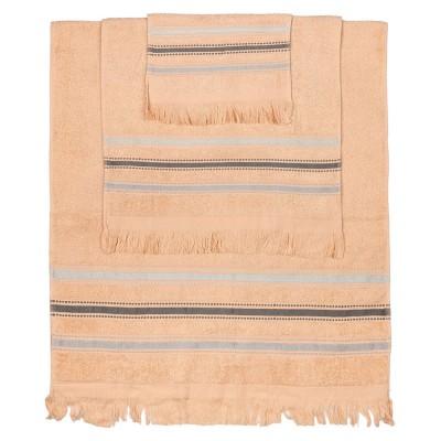 Σετ πετσέτες Art 3262 - Σετ 3τμχ Ροζ Beauty Home