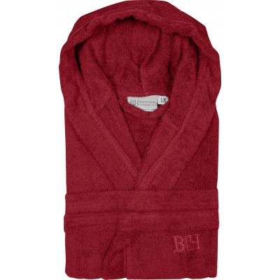 Μπουρνούζι με κουκούλα Art 3273  Κόκκινο - XL-XXL Beauty Home