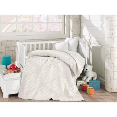 Κουβέρτα πικέ σε 4 χρώματα Art 5116  120x160 - Εκρού Beauty Home