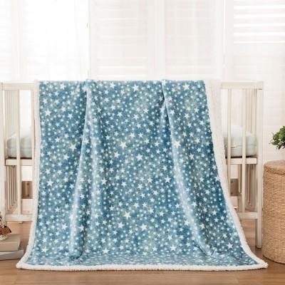 Κουβέρτα βρεφική 80x110 σε 3 χρώματα Art 5136 - 80x110 Γαλάζιο Beauty Home