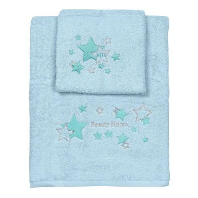 Σετ πετσέτες Art 5148  Σετ 2τμχ  Γαλάζιο Beauty Home