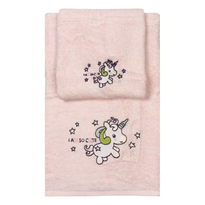 Σετ πετσέτες Art 5152  Σετ 2τμχ  Ροζ Beauty Home