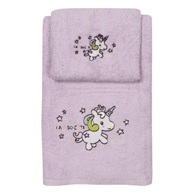 Σετ πετσέτες Art 5156 - Σετ 2τμχ Μωβ Beauty Home