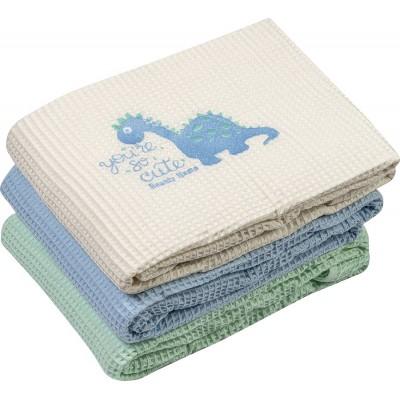 Κουβέρτα πικέ Art 5165  120x160  Γαλάζιο Beauty Home
