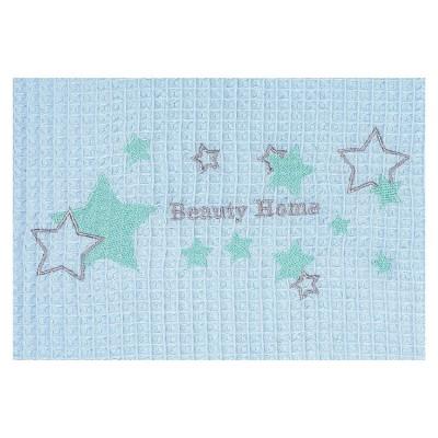 Κουβέρτα πικέ Art 5164  120x160  Γαλάζιο Beauty Home