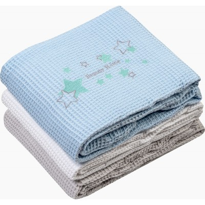 Κουβέρτα πικέ Art 5164 - 120x160 Γαλάζιο Beauty Home
