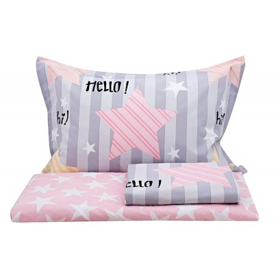 Πάπλωμα μονό Chat Art 6100  160x240  Γκρι,Ροζ Beauty Home