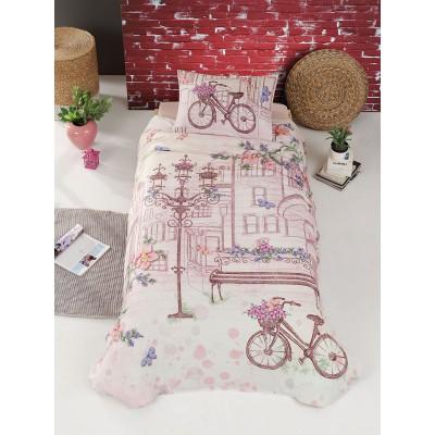 Κουβερλί μονό Romantic Art 6107 - 160x240 Εμπριμέ, Ροζ Beauty Home