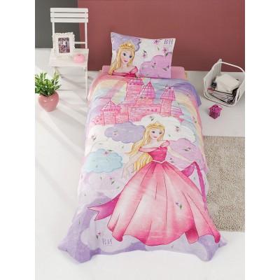Κουβερλί μονό Fairy Art 6111  160x240  Μωβ,Ροζ Beauty Home