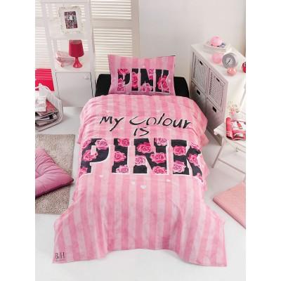 Κουβερλί μονό Pink Art 6113 - 160x240 Ροζ Beauty Home