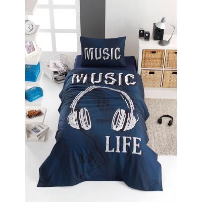 Κουβερλί μονό Sound Art 6116 - 160x240 Μπλε Beauty Home