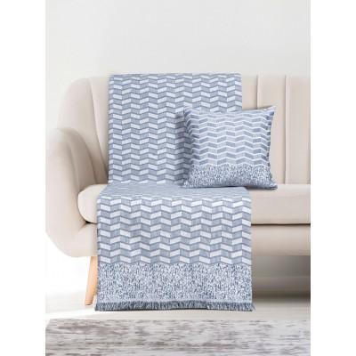 Ριχτάρι Τριθέσιο Art 8312 180x300 - Τριθέσιο Μπλε Beauty Home