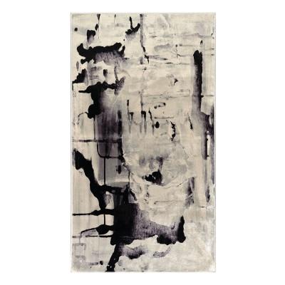 Πατάκι Aerial Art 9032 0.80x1.50 - 0.80x1.50 Γκρι, Μαύρο Beauty Home