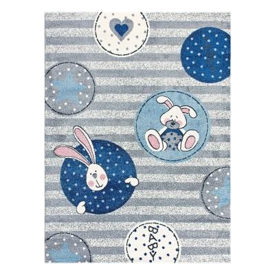 Διάδρομος Yolo Art 9502 0.70 - 0.70 Διάδρομος Γαλάζιο Beauty Home
