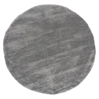 Ροτόντα 160x160 Fluffie Art 9615 Grey - Ροτόντα 160x160 Γκρι Beauty Home