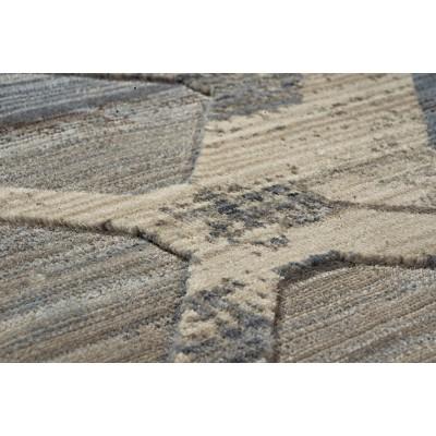 Πατάκι Bliss Art 9627 0.67x1.30 - 0.67x1.30 Μόκα, Μπεζ, Μπλε Beauty Home