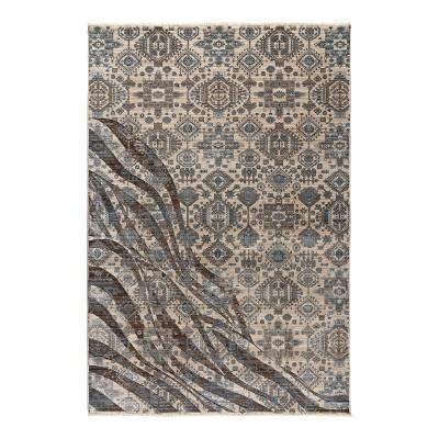 Πατάκι Bliss Art 9629 0.67x1.30  0.67x1.30  Μπεζ,Μόκα,Μπλε Beauty Home