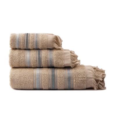 Σετ πετσέτες Art 3263  Σετ 3τμχ  Μπεζ Beauty Home