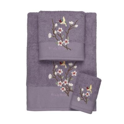 Σετ πετσέτες Art 3301  Σετ 3τμχ Μωβ Beauty Home