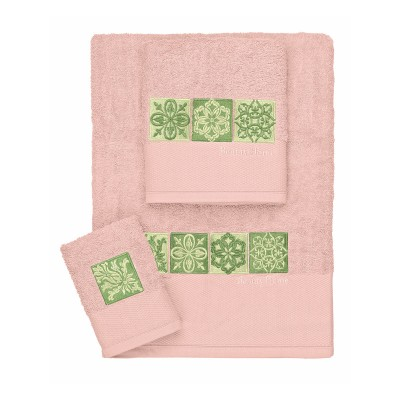 Σετ πετσέτες Art 3306  Σετ 3τμχ Ροζ Beauty Home