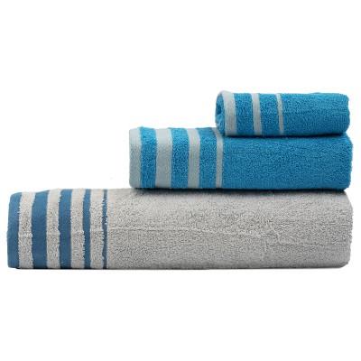 Σετ πετσέτες Art 3310  Σετ 3τμχ Γκρι,Τυρκουάζ Beauty Home