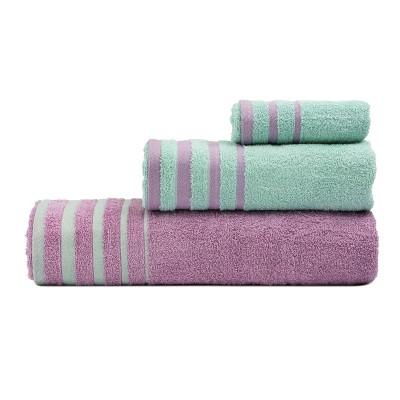 Σετ πετσέτες Art 3311  Σετ 3τμχ Λιλά,Βεραμάν Beauty Home