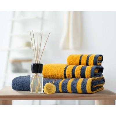 Σετ πετσέτες Art 3312  Σετ 3τμχ Ανθρακίτης,Κίτρινο Beauty Home