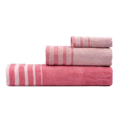 Σετ πετσέτες Art 3313  Σετ 3τμχ Κοραλί,Ροζ Beauty Home